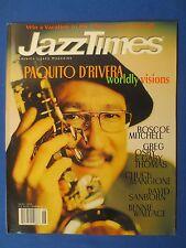 JAZZ TIMES MAGAZINE JUNE 1999 PAQUITO D'RIVERA ROSCOE MICHELL GREG OSBY MANGIONE