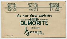 Vintage 1922 Postal Advertising Ad Cover New Du Pont Dumorite Farm Explosive