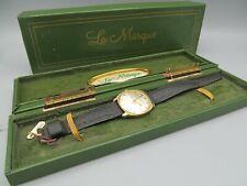 Vintage Wristwatch NOS in Original Box – La Marque Men's 17 Jewels Date/Day