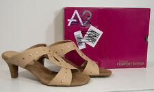 Aerosoles A2 Powssibility Studded Faux Leather Sandals Women's Size 11 M Bone