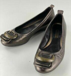 Ecco 011096 Women's Slip On Comfort Flat Shoe - Bronze - Size 36