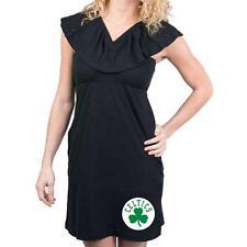 Boston Celtics Women's Miss Fanatic 3 Way Big Fan Dress Black Ruffle S