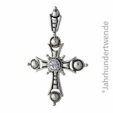 Sterling Silber Kreuz Anhänger Zirkonia silver cross cubic zirconia 🍀🍀🍀