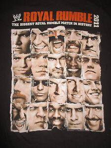"2011 ""ROYAL RUMBLE"" Detroit JOHN CENA vs JOHN ""Bradshaw"" LAYFIELD (LG) T-Shirt"