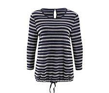 IMPRESSIONEN Damen Shirt Longsleeve Tunika maritim  ~TCHIBO~  Gr.XS blau NEU