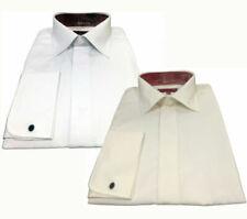 Camicia Uomo INVICTUS 5cm Più Lunga Alto Cotone No Stiro Doppio Polsino Bianco