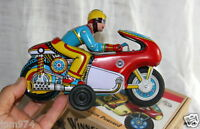 MOTOR Cycle à Friction avec bruit / WINNER MOTO TIN TOY Jouet Tole OMI Inde 20cm