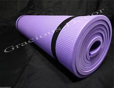"Indoor Outdoor Exercise Yoga Mat Pad 70""23"" Non-Slip Purple BEST FOR KNEES"