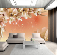 3D Large Flowers Self-adhesive Simple Wall Mural Painting Wallpaper Photo Decal