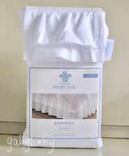 Rachel Ashwell Simply Shabby Chic White Double Ruffle QUEEN Bedskirt Dust Ruffle