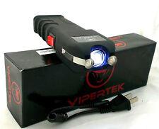 VIPERTEK Super High Voltage Stun Gun - Rechargeable LED Light + Taser Case - 989