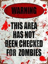 AVVERTENZA NON A QUADRI PER Zombies, divertente camera da letto porta AREA ,