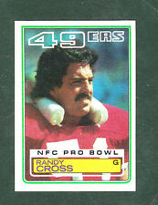 1983 Topps Randy Cross #165 Football Card