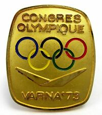 RARE IOC CIO OLYMPIC PARTICIPANT PIN BADGE OLYMPIC CONGRESS & SESSION VARNA'73