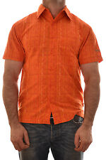 Dare 2b Mens Portal Casual Shirt Mango Orange Medium Dms100 B5