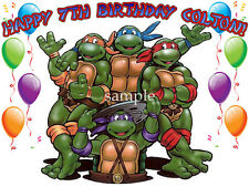 NINJA TURTLES Edible CAKE Image Icing Topper Birthday Party Supply tmnt