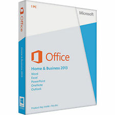Microsoft Office Home and Business 2013 - Includes Full Install DVD and Key Code