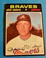 1971 Topps #30 Phil Niekro EX/EX-MT HOF Atlanta Braves
