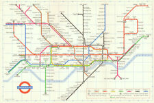 LONDON UNDERGROUND tube map plan diagram. 1st PAUL GARBUTT edition 1964