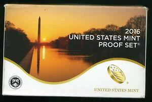 2016-S United States Mint Proof Coin Set w/ Box & CoA CP832
