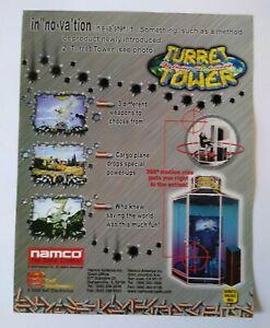 Namco Turret Tower Arcade FLYER Original Video Game Art Print Promo Sheet 2000