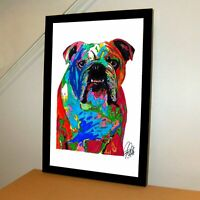 English Bulldog Poster Print Wall Art 11x17