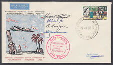 1966 Cook Islands Experimental Airmail Flight; Multi-signed; A