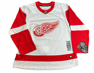 Detroit Red Wings Adidas Authentic NHL Hockey Jersey (Size 54) (White/Red)