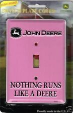 Pink John Deere Light Switch PLATE COVER girl room home wall decor tractor metal