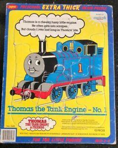 1991 Jaymar 12 PC. Thomas Train INLAID Extra Thick PUZZLE~PRESCHOOL Ages 1-2