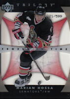 2005-06 Upper Deck Trilogy Senators Hockey Card #147 Marian Hossa FIT/599