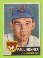 1953 Topps - Paul Minner (#92)  Chicago Cubs