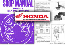Honda XL125 CT125 Servicio Taller reparación Manual Del Taller XL CT 125 Fábrica