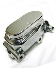 """Chrome Aluminum Smooth Flat Top Brake Master Cylinder with 1"""" Bore GM Street Rod"""