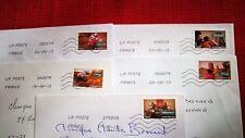 """5 timbres oblitérés sur lettre , thème """" journée de la femme""""  2013"""