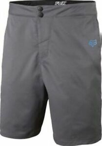 Fox Ranger Mountain Bike Mtb Cycling Baggy Shorts w/ Liner Grey Size 30 New