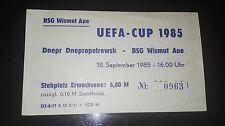 Ticket Uefa Wismut Aue Dnepropetrowsk DDR СССР билет Россия Днепр Днепропетровск