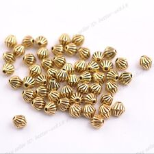 50/100Pcs Tibetan Silver Round Charm Spacer Beads Jewelry Findings 5X5MM 3138
