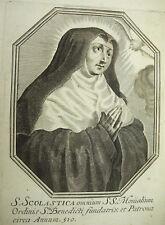 Sainte Scolastique Écolasse Michiel VAN LOCHOM XVIIe à Duchesse d'Aiguillon 1639