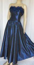 Laura Ashley Abendkleid 34 blau Hochzeit vintage Ballkleid Theater Rüschen