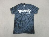 Thrasher Shirt Adult Small Blue White Skateboard Magazine Skater Mens A44
