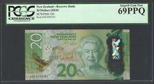 New Zealand 20 Dollars (2016) P193 Uncirculated Graded 69