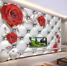 3D Red Roses Romantic 4245 Wall Paper Wall Print Decal Wall AJ WALLPAPER CA
