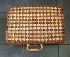 More details for large vintage retro wicker 4 person picnic hamper basket brand new and unused