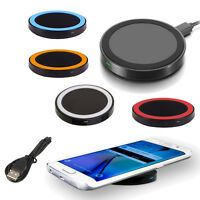 For Samsung Galaxy S6 S7 Edge Note 5 7 QI Wireless Charger Charging Pad Plate
