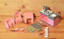 Mini Baby Born Küche mit  Zubehör und Stuhl und Tisch Top  RAR 46