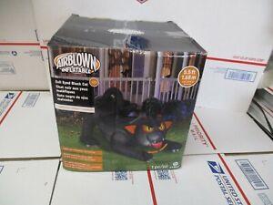 GEMMY AIRBLOWN INFLATABLES LED EVIL EYED BLACK CAT HALLOWEEN DECORATION 5.5 FEET