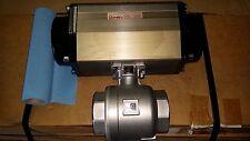"DuraValve Durair 2 Pneumatic actuator model AP145N 3"" SS ball valve, NOS"