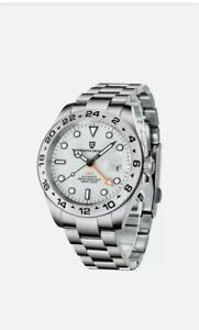 Pagani Design Watch Automatic Explorer 2 White Dial 2021 Edition! Rolex 216570