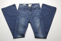 Silence + Noise Womens Blue Jeans Size 24 High Rise Flare Leg Dark Blue